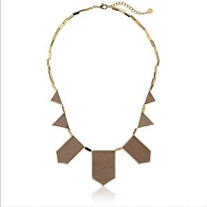 House of Harlow Tan Leather Statement Necklace